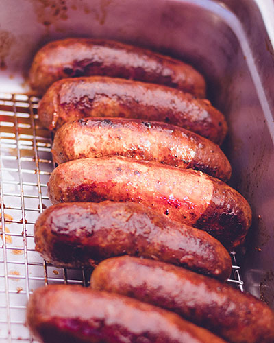 Gourmet Sausages in Los Angeles at the farmers market